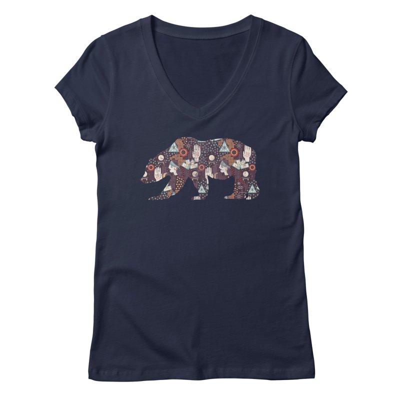 Fortune Teller Mystic Bear Psychic Women's V-Neck by The Bearly Brand