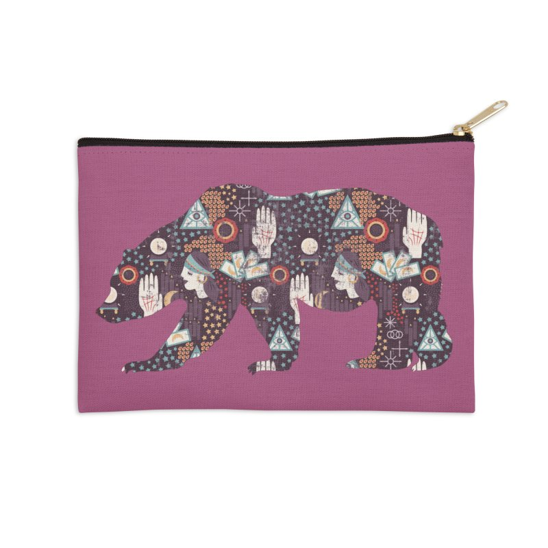 Fortune Teller Mystic Bear Psychic Accessories Zip Pouch by The Bearly Brand