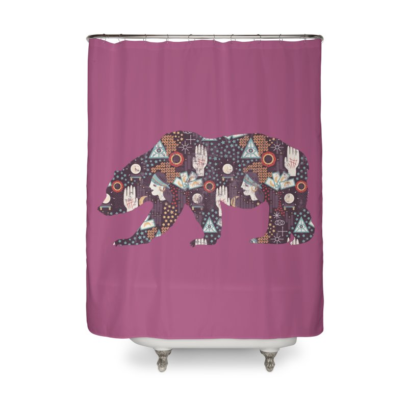 Fortune Teller Mystic Bear Psychic Home Shower Curtain by The Bearly Brand