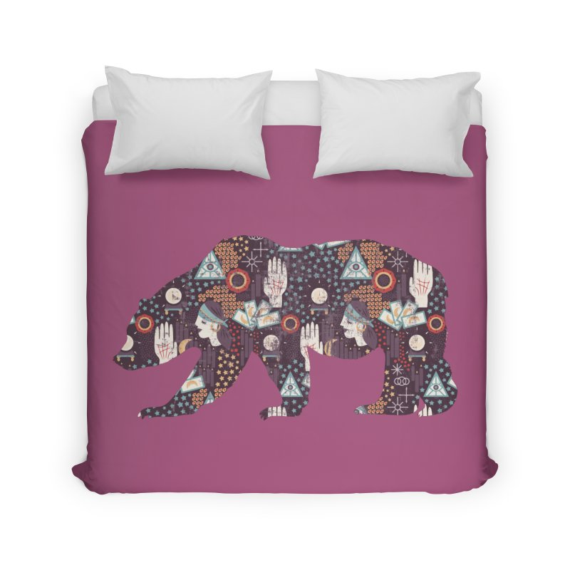 Fortune Teller Mystic Bear Psychic Home Duvet by The Bearly Brand