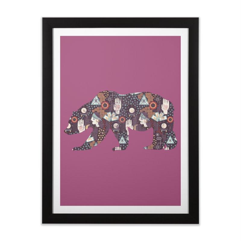 Fortune Teller Mystic Bear Psychic Home Framed Fine Art Print by The Bearly Brand