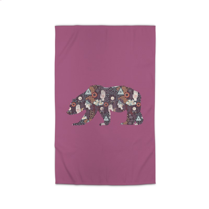 Fortune Teller Mystic Bear Psychic Home Rug by The Bearly Brand