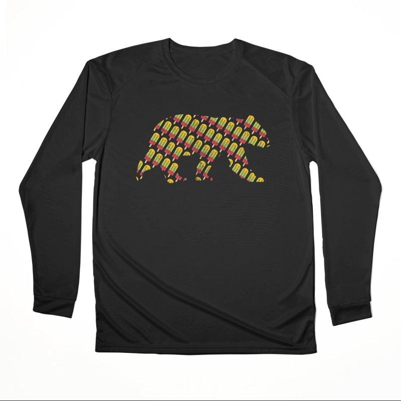 Summer Popsicle Fruit Bar Bear Pattern Women's Longsleeve T-Shirt by The Bearly Brand