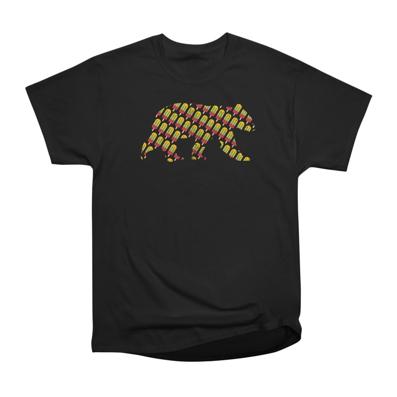 Summer Popsicle Fruit Bar Bear Pattern Men's T-Shirt by The Bearly Brand