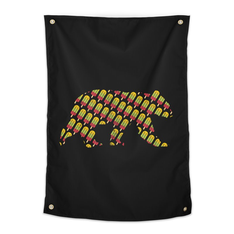 Summer Popsicle Fruit Bar Bear Pattern Home Tapestry by The Bearly Brand