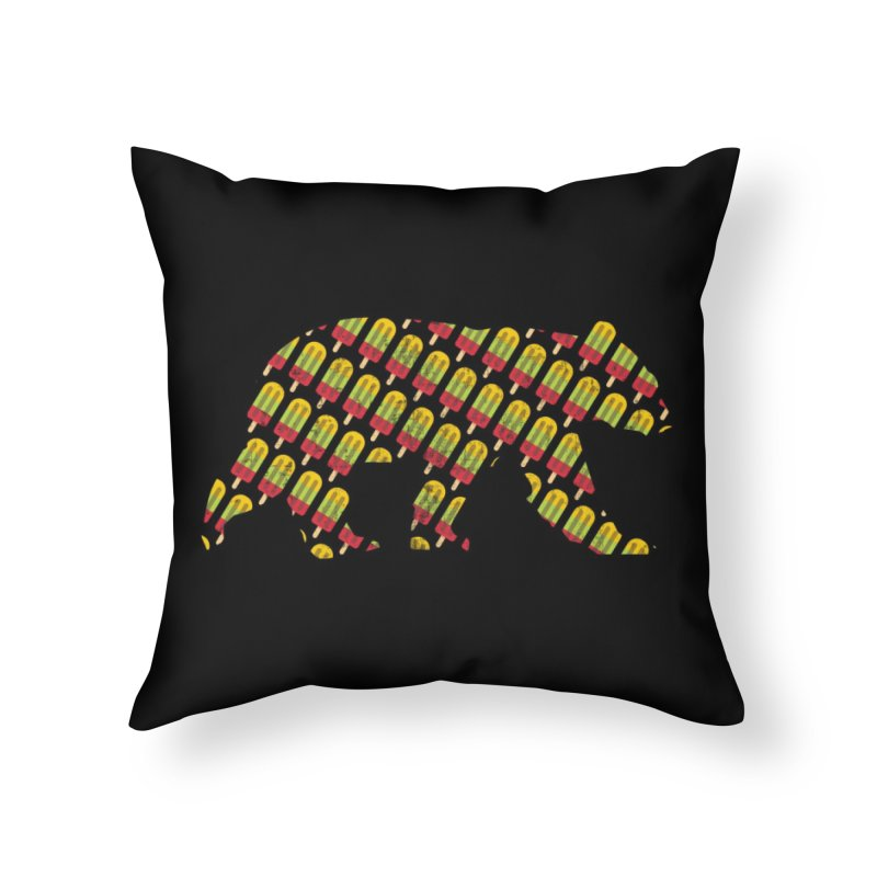 Summer Popsicle Fruit Bar Bear Pattern Home Throw Pillow by The Bearly Brand