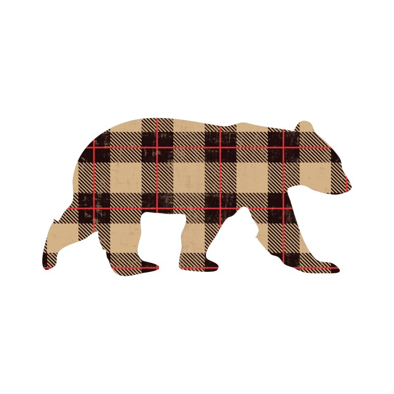 Furbeary Bear Men's Heavyweight T-Shirt by The Bearly Brand