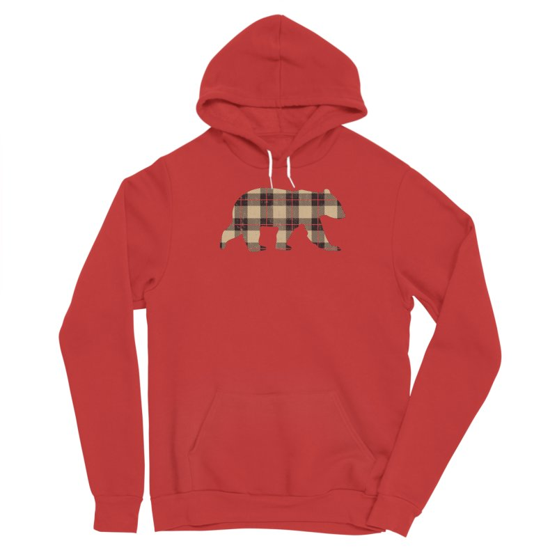 Furbeary Plaid Bear Brown Flannel Fashion Women's Pullover Hoody by The Bearly Brand