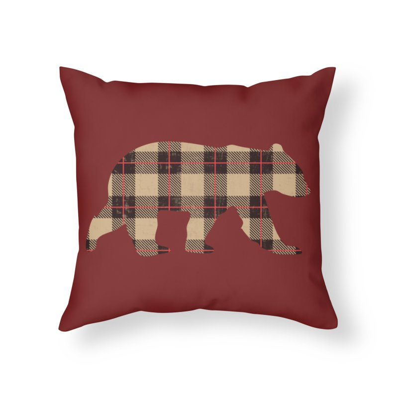Furbeary Bear Home Throw Pillow by The Bearly Brand