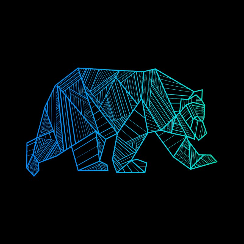 Geometric Bear Men's T-Shirt by The Bearly Brand