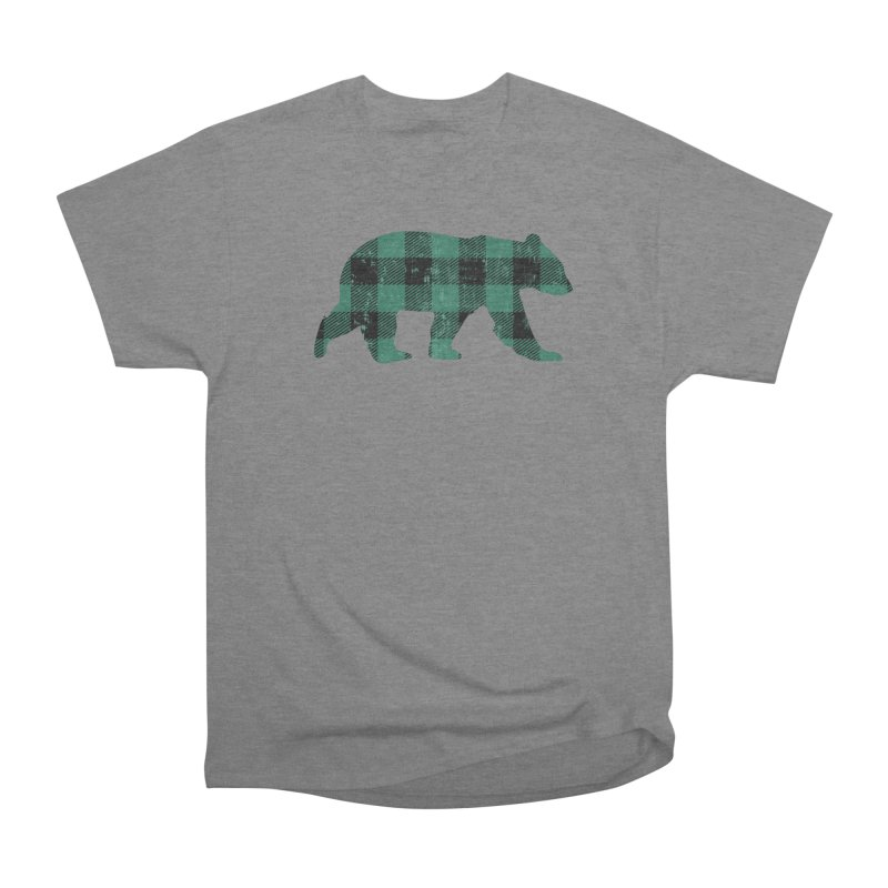 Green Buffalo Check Flannel Vintage Gay Bear Men's T-Shirt by The Bearly Brand