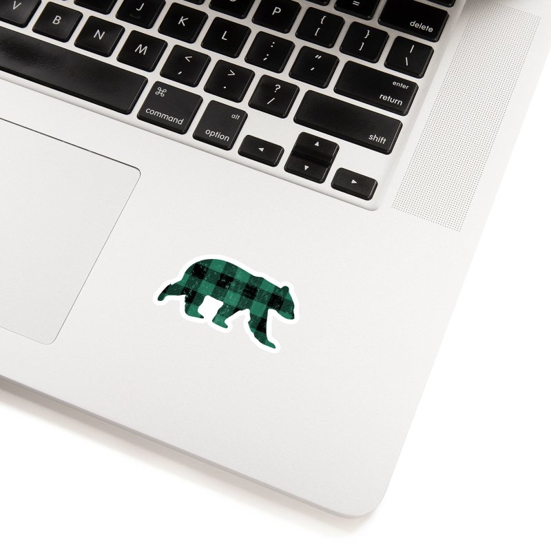 Green Flannel Bear Accessories Sticker by The Bearly Brand