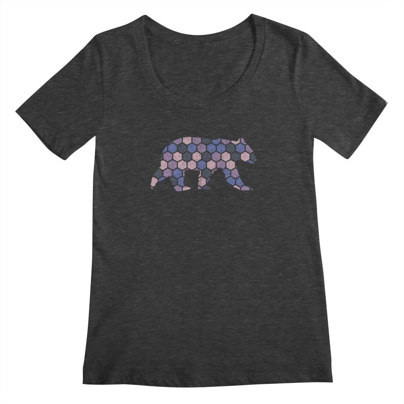 Honeycomb Bear Women's Scoopneck by The Bearly Brand