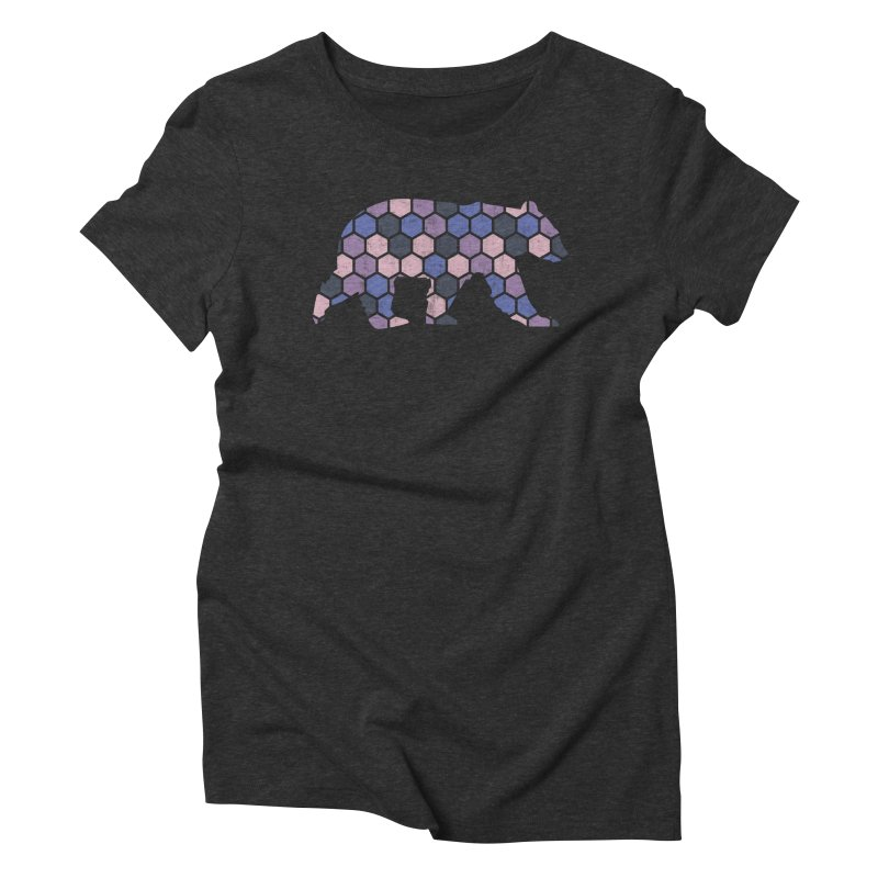 Honeycomb Bear Women's Triblend T-Shirt by The Bearly Brand