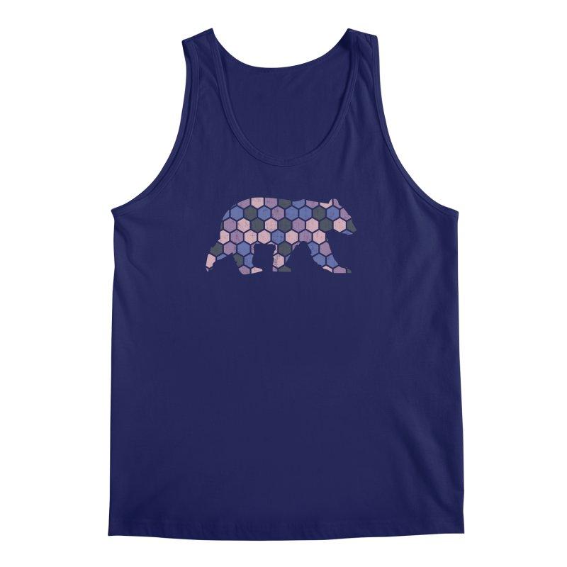 Honeycomb Bear Men's Regular Tank by The Bearly Brand