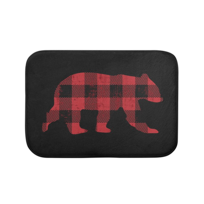 Red Flannel Bear Home Bath Mat by The Bearly Brand