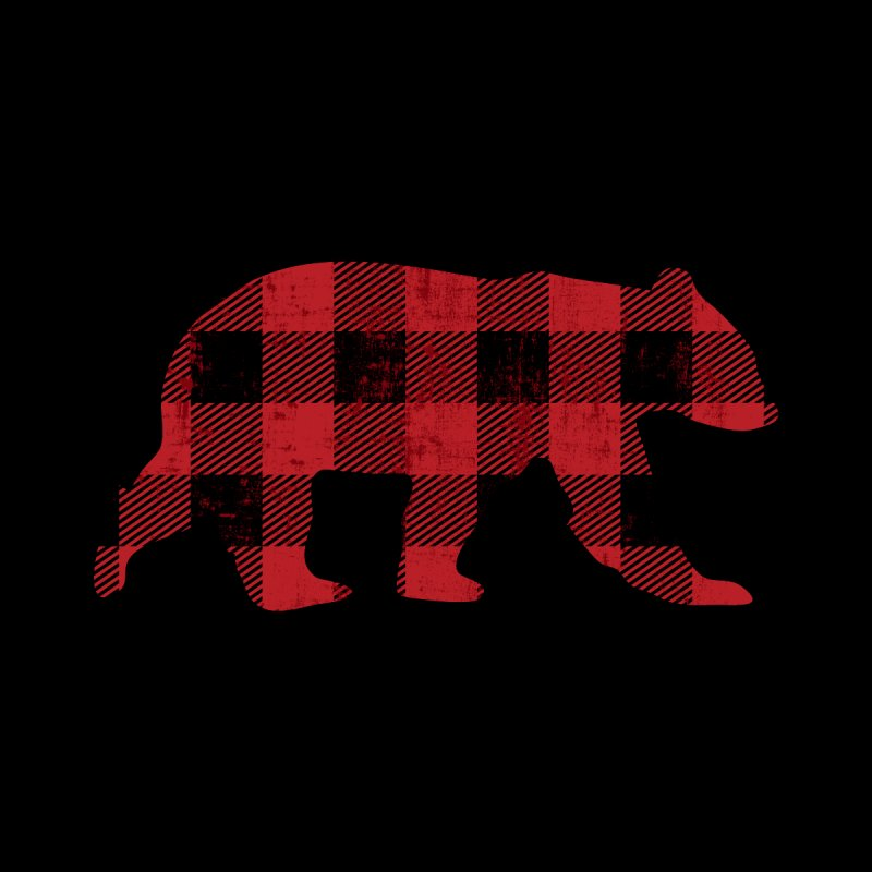 Red Flannel Buffalo Check Vintage Bear for Gay Bear Pride Men's T-Shirt by The Bearly Brand