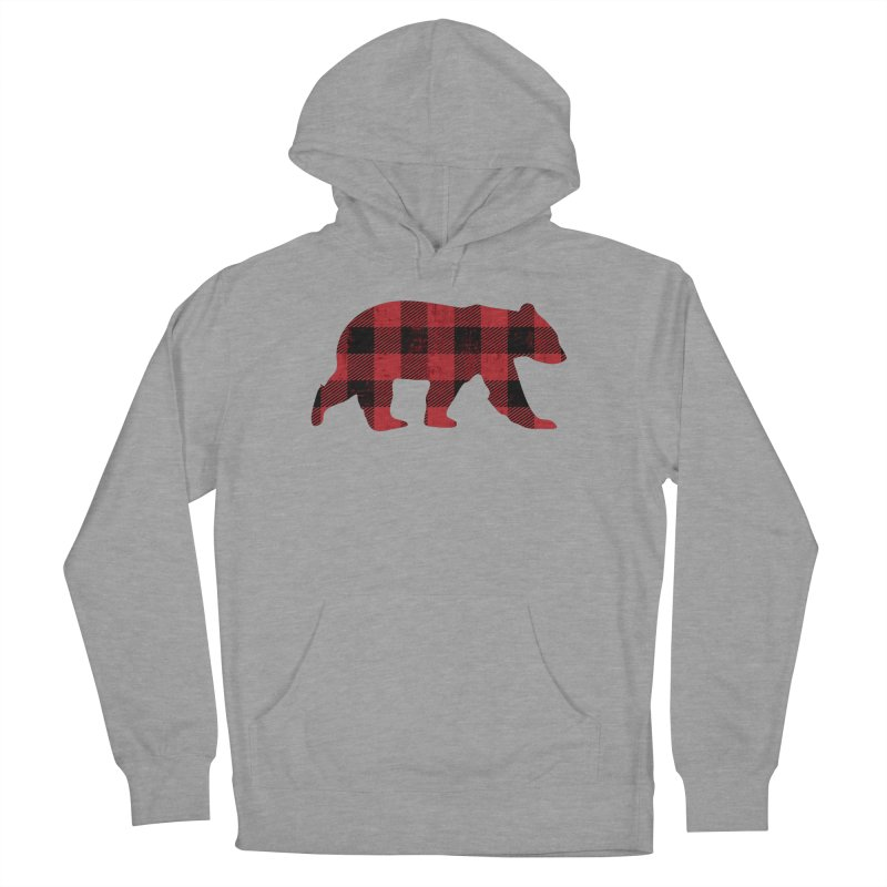 Red Flannel Bear Women's Pullover Hoody by The Bearly Brand