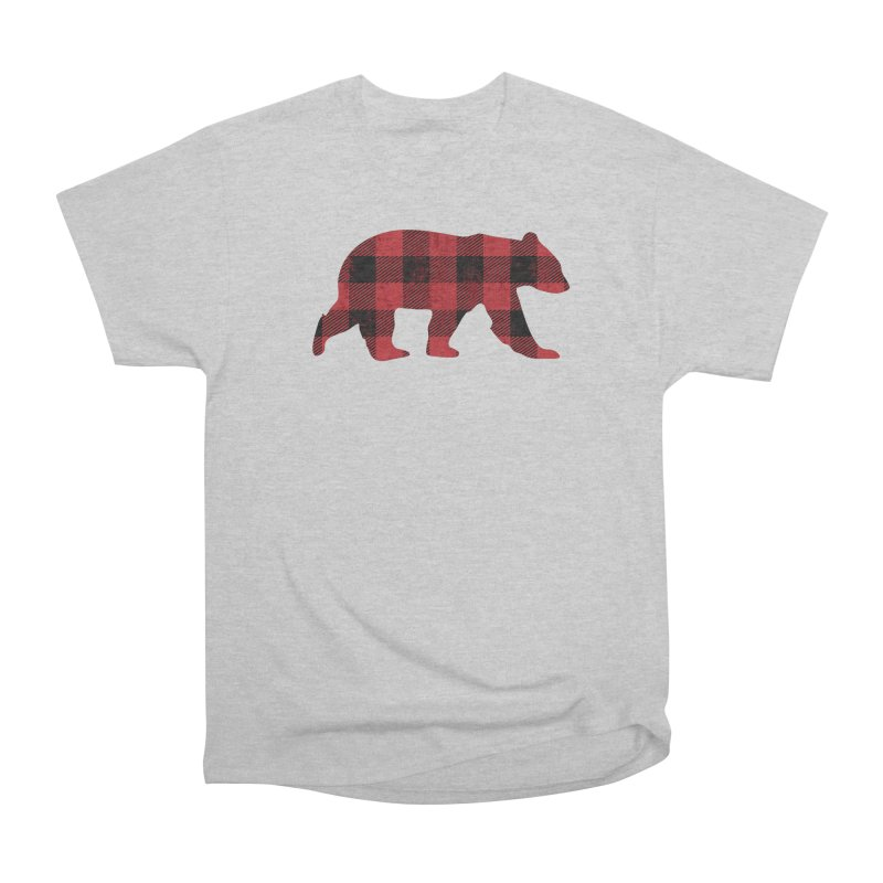Red Flannel Bear Men's Heavyweight T-Shirt by The Bearly Brand