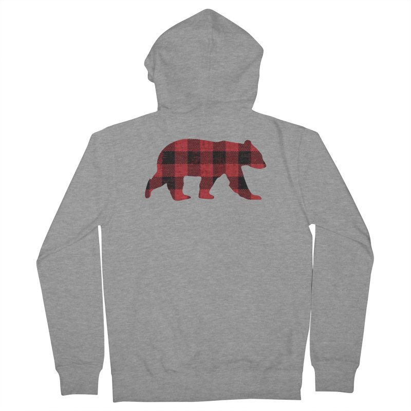 Red Flannel Bear Men's Zip-Up Hoody by The Bearly Brand