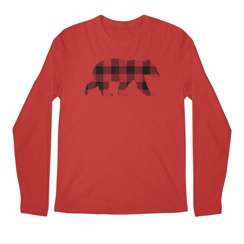 Red Flannel Bear Men's Longsleeve T-Shirt by The Bearly Brand