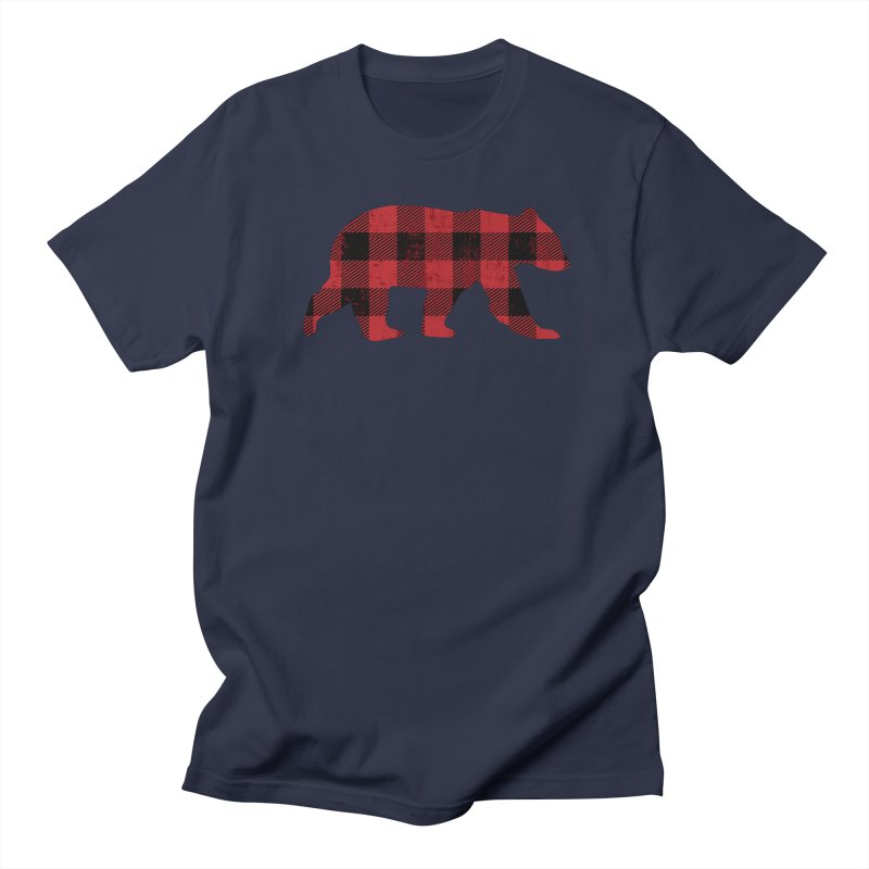 Red Flannel Bear Men's T-Shirt by The Bearly Brand