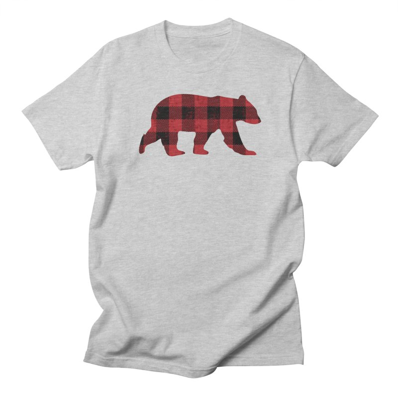 Red Flannel Bear Women's Unisex T-Shirt by The Bearly Brand