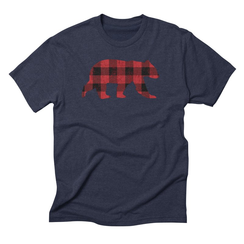 Red Flannel Bear Men's Triblend T-Shirt by The Bearly Brand