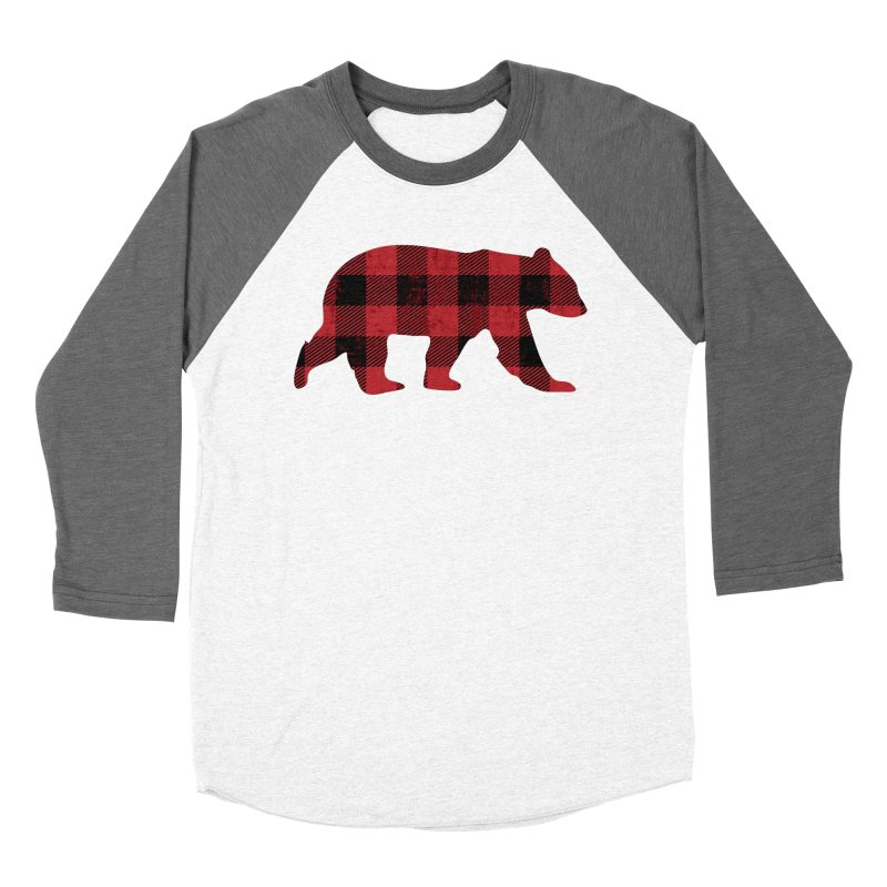 Red Flannel Bear Women's Baseball Triblend T-Shirt by The Bearly Brand