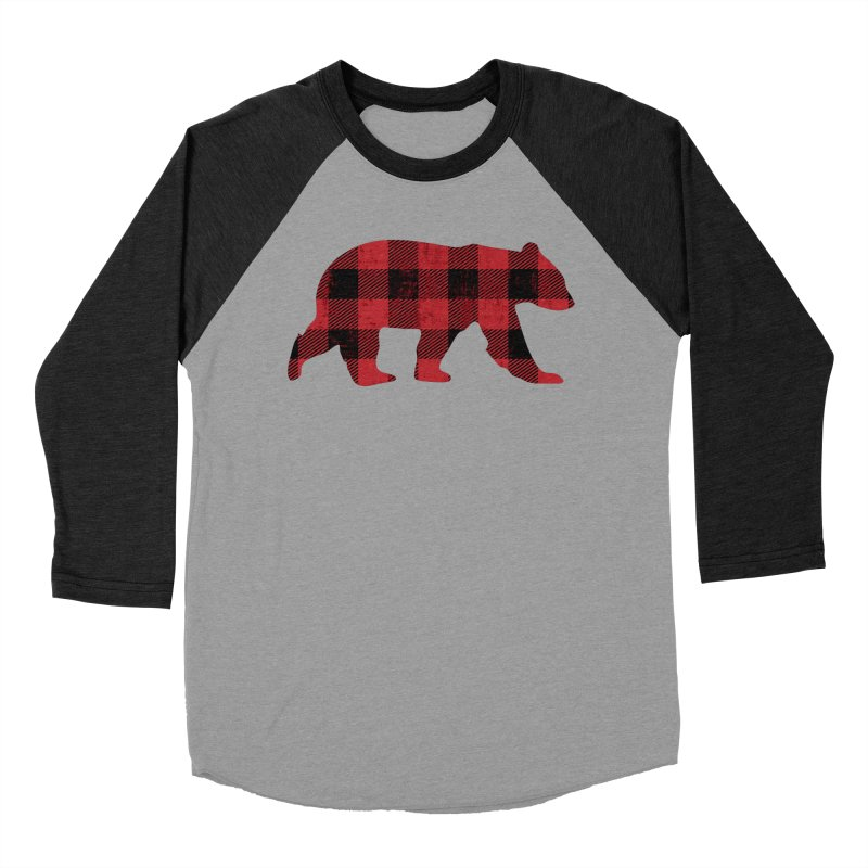 Red Flannel Bear Men's Baseball Triblend T-Shirt by The Bearly Brand