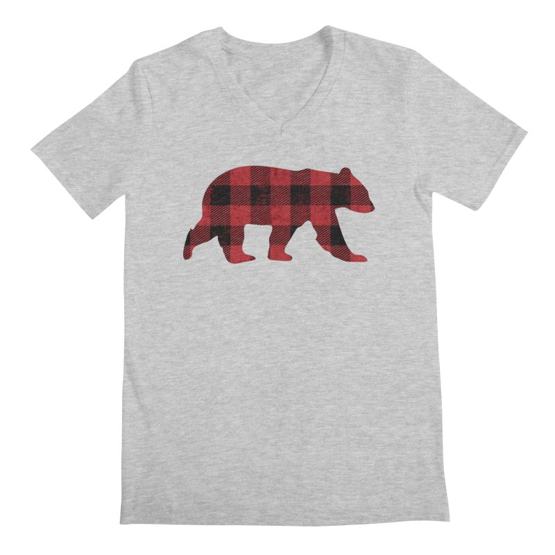 Red Flannel Bear Men's V-Neck by The Bearly Brand