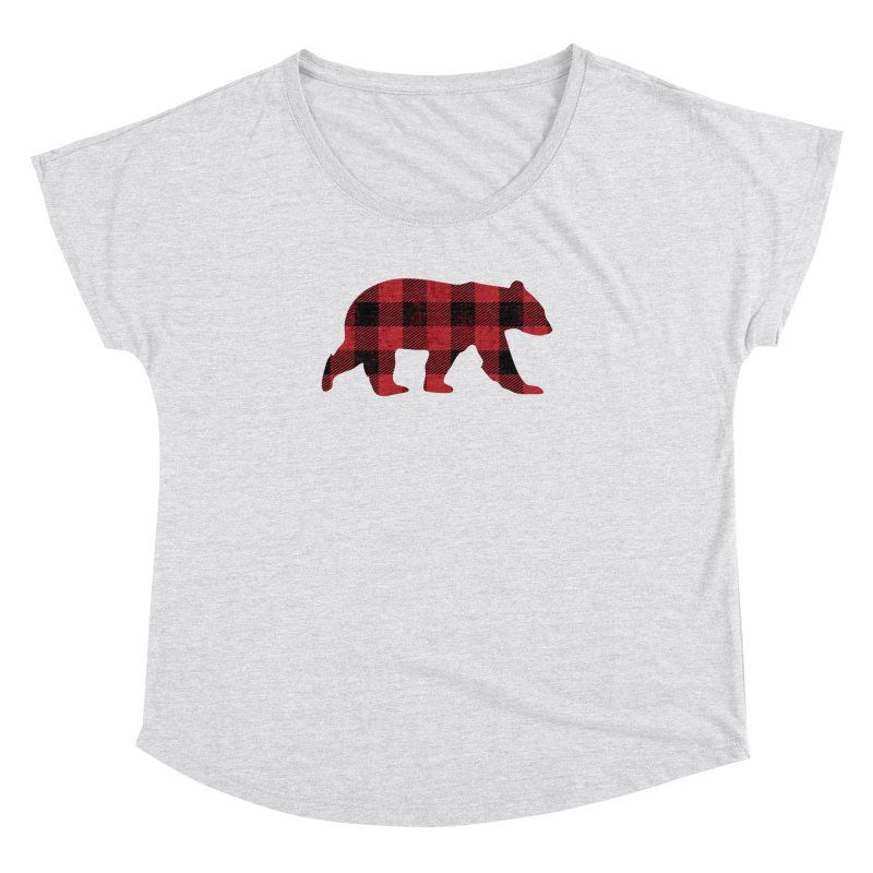Red Flannel Bear Women's Dolman by The Bearly Brand