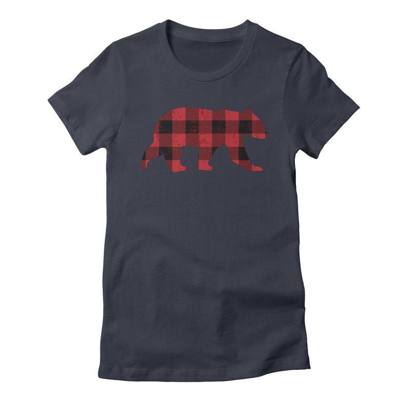 Red Flannel Bear Women's Fitted T-Shirt by The Bearly Brand