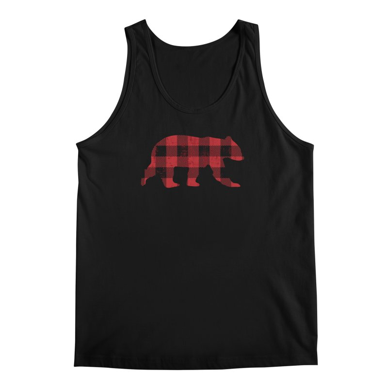 Red Flannel Bear Men's Tank by The Bearly Brand