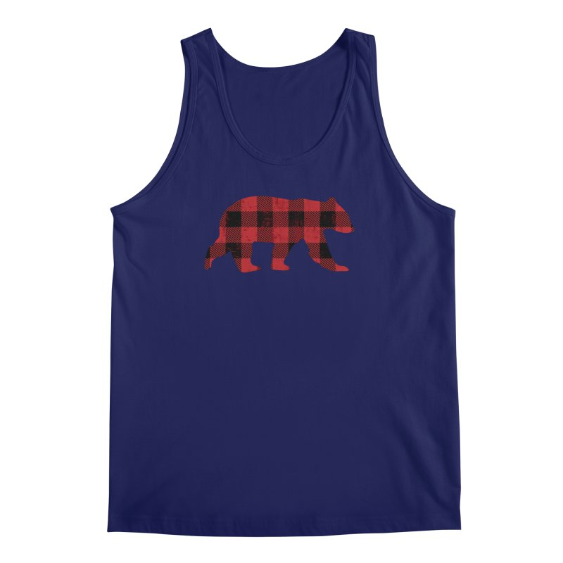 Red Flannel Bear Men's Regular Tank by The Bearly Brand