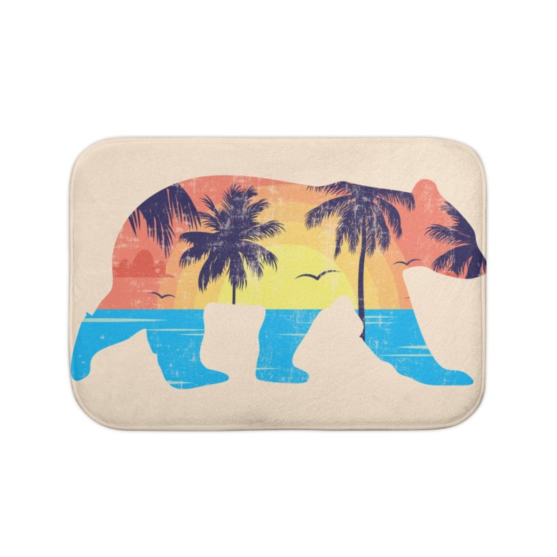 Sunset Beach Bear Home Bath Mat by The Bearly Brand