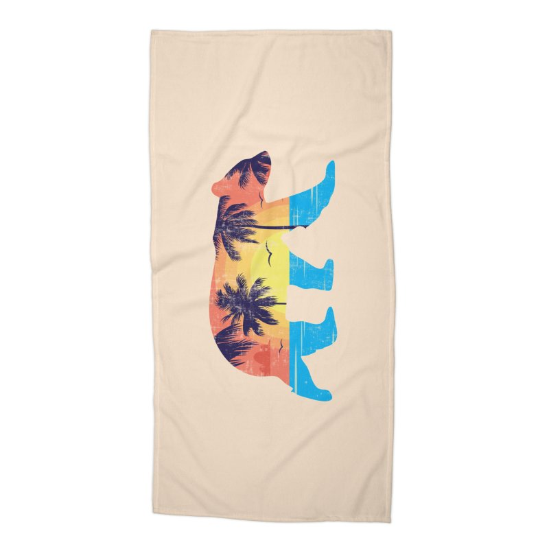 Sunset Beach Bear Accessories Beach Towel by The Bearly Brand