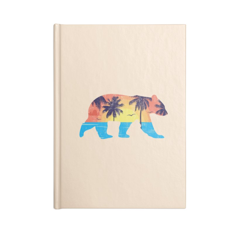 Sunset Beach Bear Accessories Notebook by The Bearly Brand