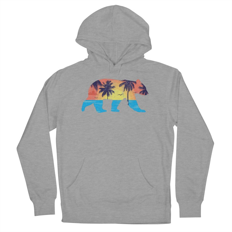 Sunset Beach Bear Men's Pullover Hoody by The Bearly Brand