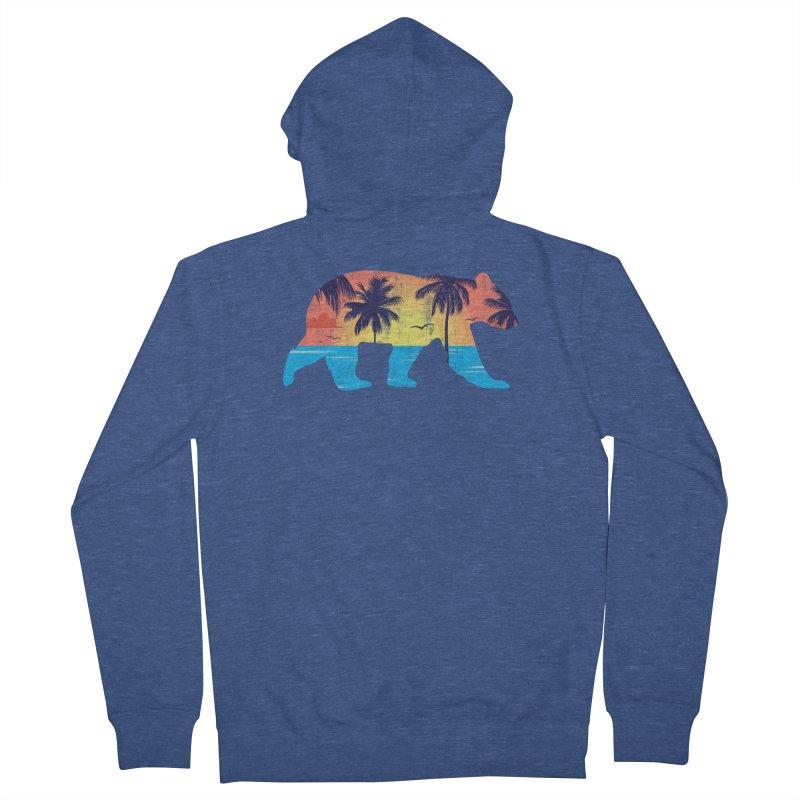 Sunset Beach Bear Women's Zip-Up Hoody by The Bearly Brand