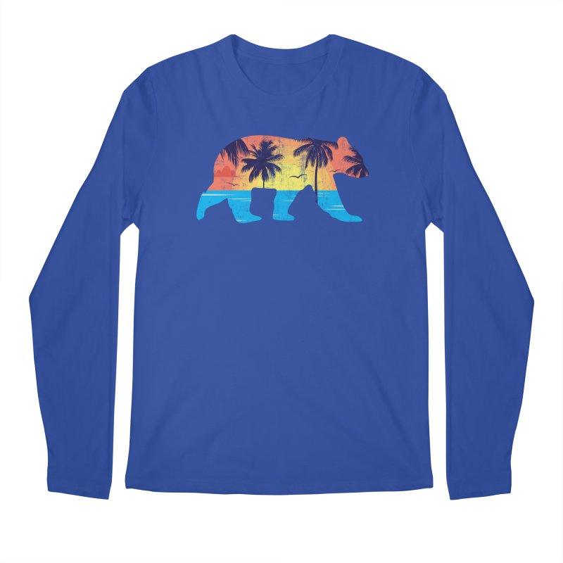Sunset Beach Bear Men's Longsleeve T-Shirt by The Bearly Brand