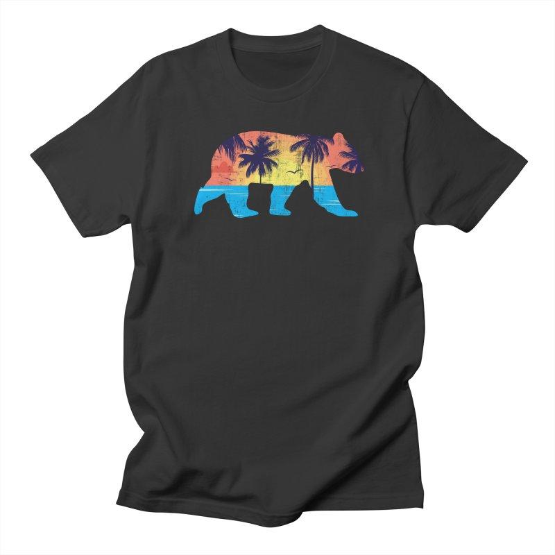 Sunset Beach Bear Women's Unisex T-Shirt by The Bearly Brand