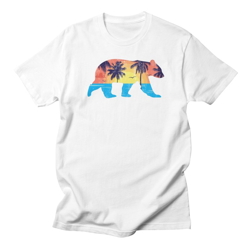 Sunset Beach Bear Men's T-Shirt by The Bearly Brand