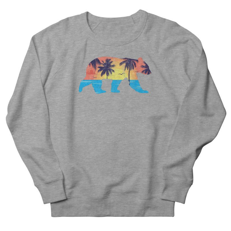 Sunset Beach Bear Men's Sweatshirt by The Bearly Brand