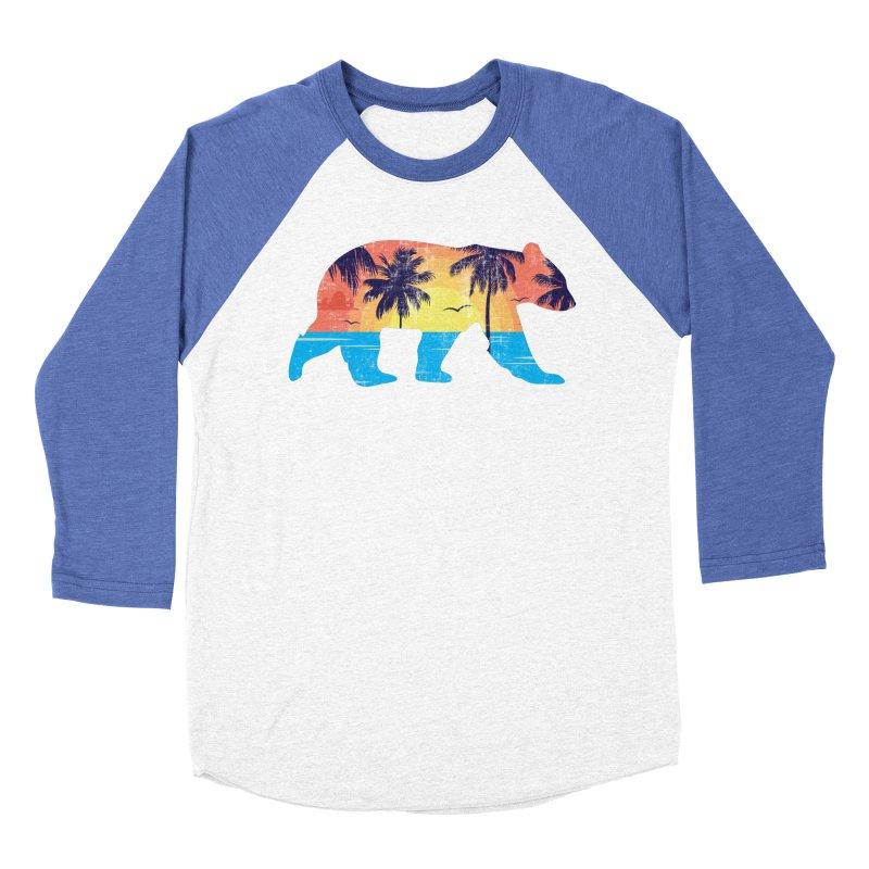 Sunset Beach Bear Women's Baseball Triblend T-Shirt by The Bearly Brand