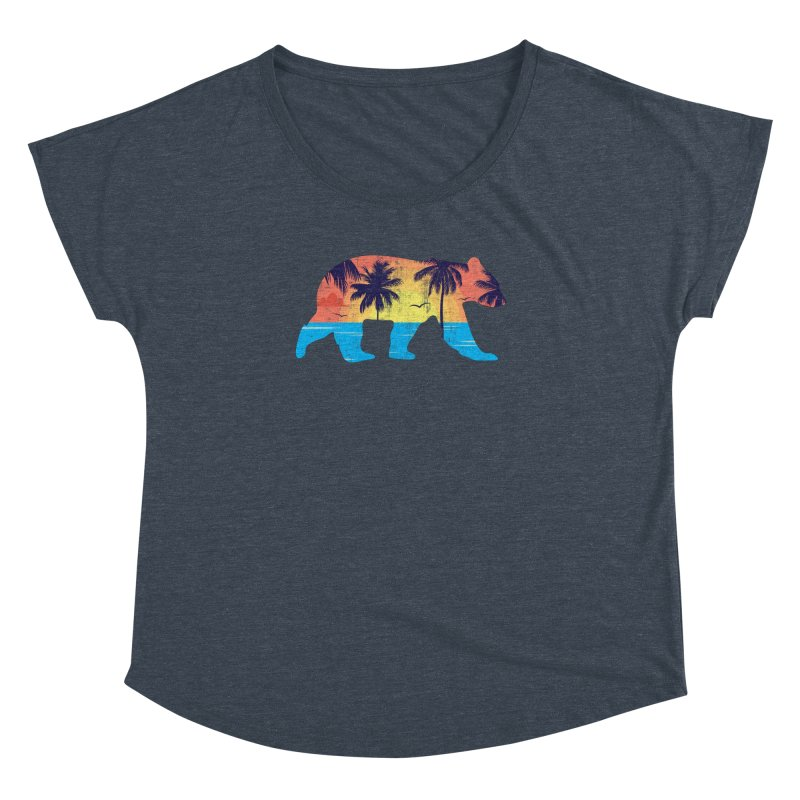 Sunset Beach Bear Women's Dolman by The Bearly Brand