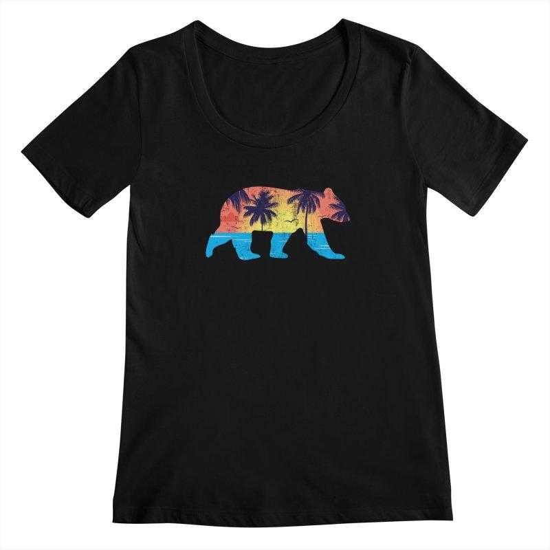 Sunset Beach Bear Women's Scoopneck by The Bearly Brand