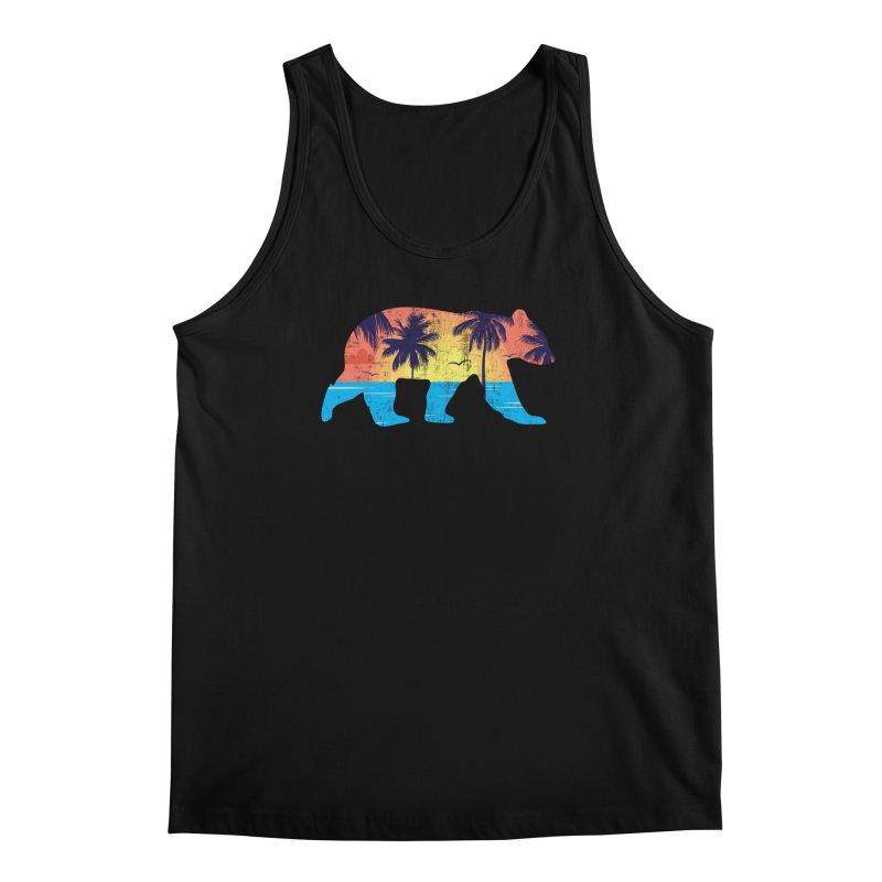 Sunset Beach Bear Men's Regular Tank by The Bearly Brand