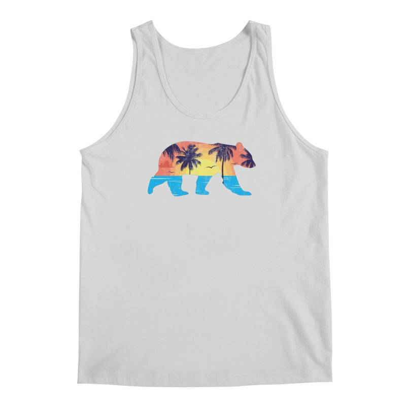 Sunset Beach Bear Men's Tank by The Bearly Brand