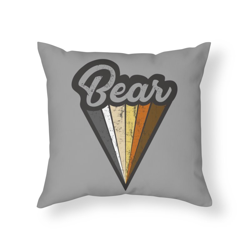 Gay Bear Pride Home Throw Pillow by The Bearly Brand